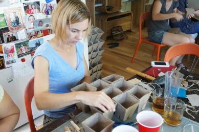 Alisa assembling one modular unit